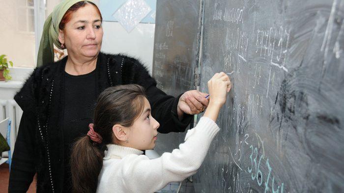 Урок в таджикской школе