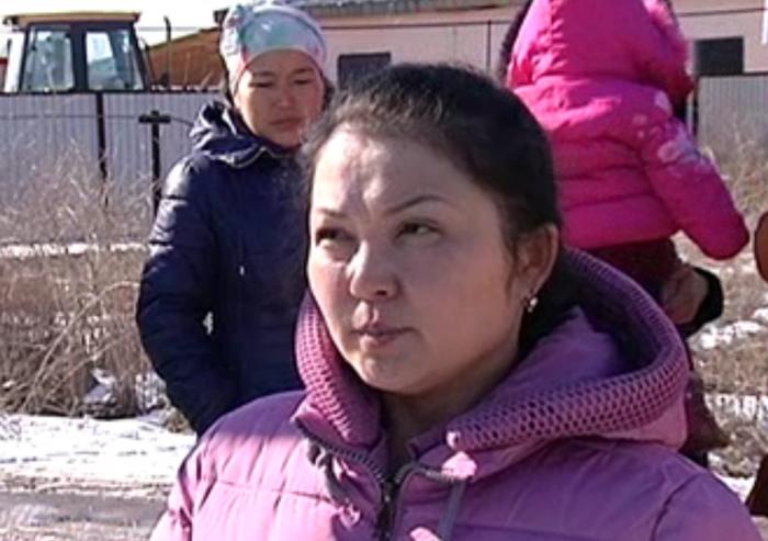 Жительницы поселка Комсомол