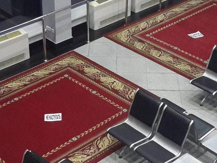 Ковры в алматинском аэропорту