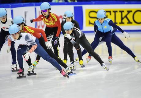 Казахстанские шорт-трекистки на Азиаде
