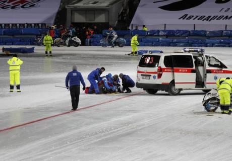 Русский гонщик получил травму на«Медеу»