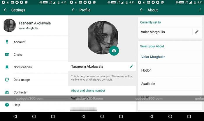 WhatsApp возвратит  текстовые статусы