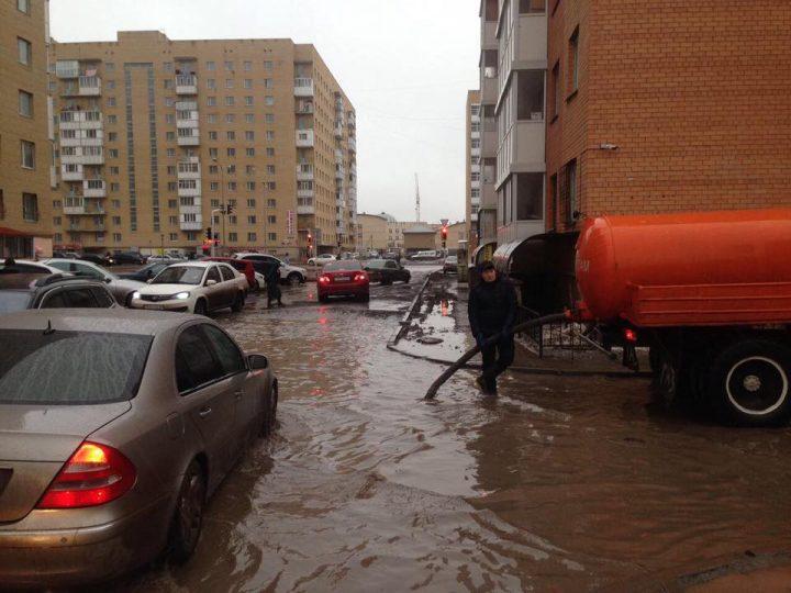 откачка воды, Астана