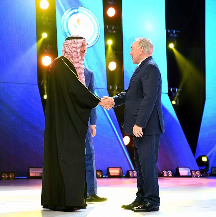 Нурсултан Назарбаев на праздновании 25-летия НОК
