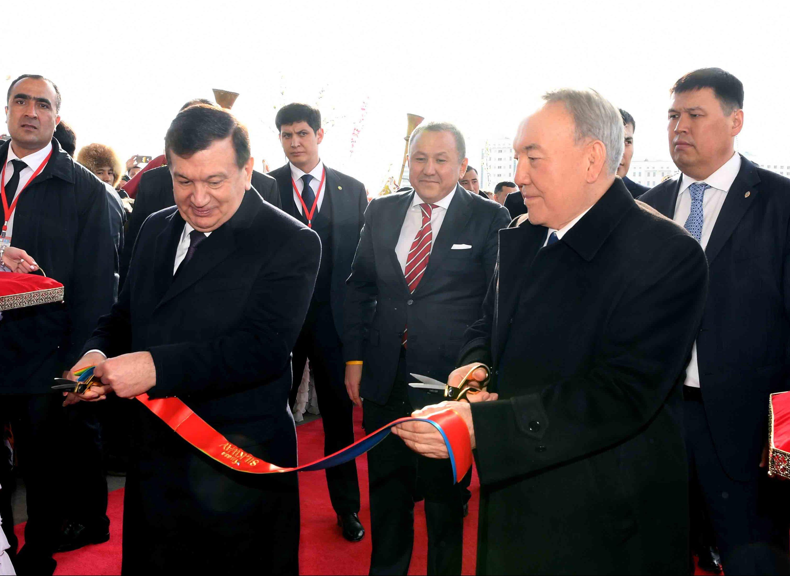 Назарбаев и Мирзиёев