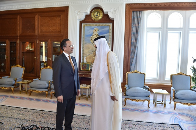 Кайрат Абдрахманов и эмир Катара