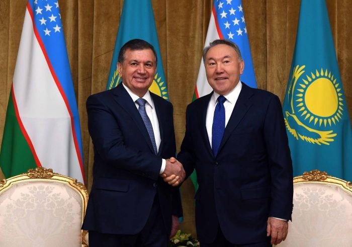 президенты Узбекистана и Казахстана