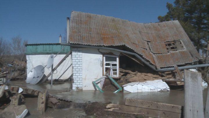 Разрушенный дом в селе Рузаевка