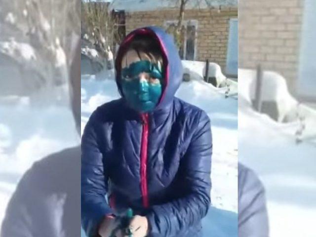 Кадр из снятого таксистом видео