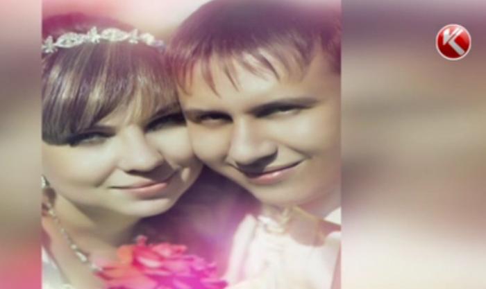 Погибший Алексей Губенко с супругой