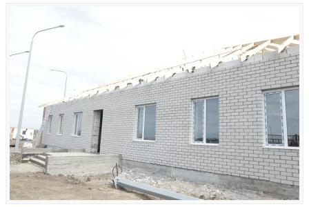 строящийся клуб в селе Шамшы