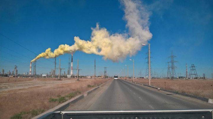 Выброс газа. Фото очевидца
