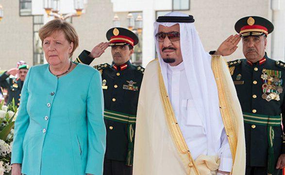 Меркель и король Саудовской Аравии