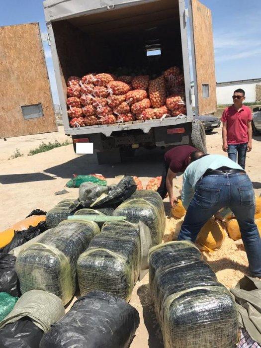 наркотики из грузовика с овощами актау