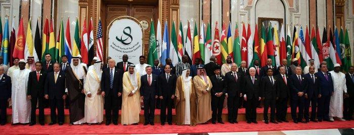 """Участники саммита """"США - Исламский мир""""."""