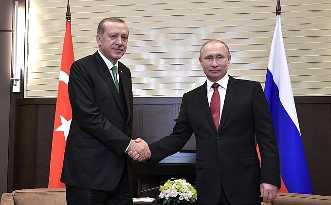 Эрдоган и Путин. Фото: пресс-служба Кремля