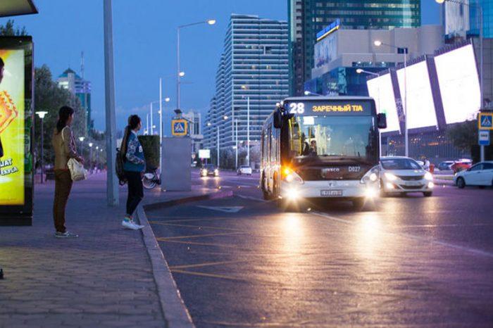 проспект в астане автобус