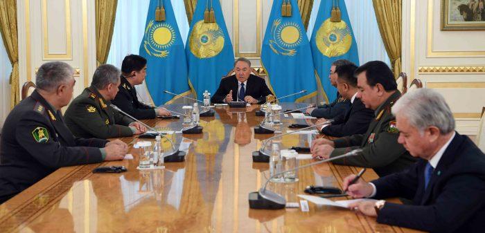 встреча Назарбаева с министрами обороны ШОС
