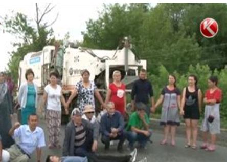 акция протеста против расширения трассы алматы-талдыкорган