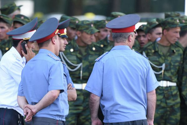 Милиционеры Таджикистана