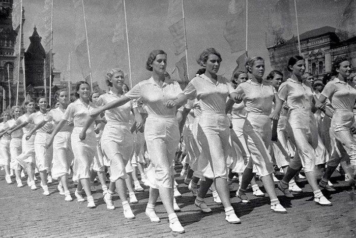 Парад физкультурниц на Красной площади, 1936 год