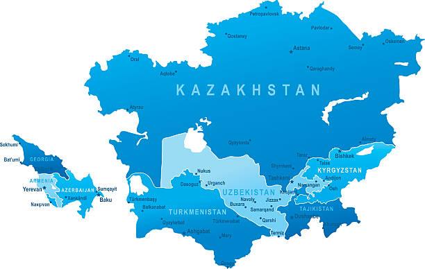 Центральная Азия, карта, геополитика