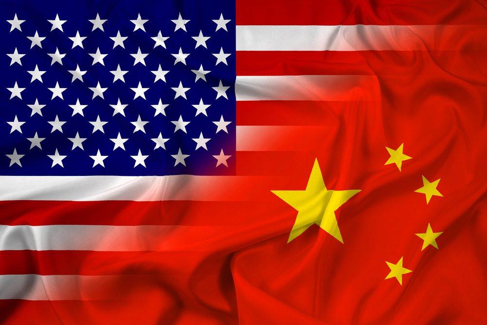 флаг, США, Китай