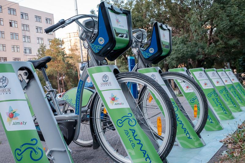 Велосипедная стоянка в Алматы