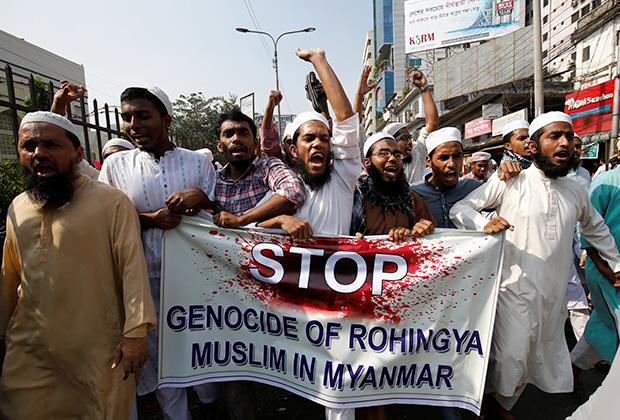 Демонстрация в Бангладеш в защиту рохинджа