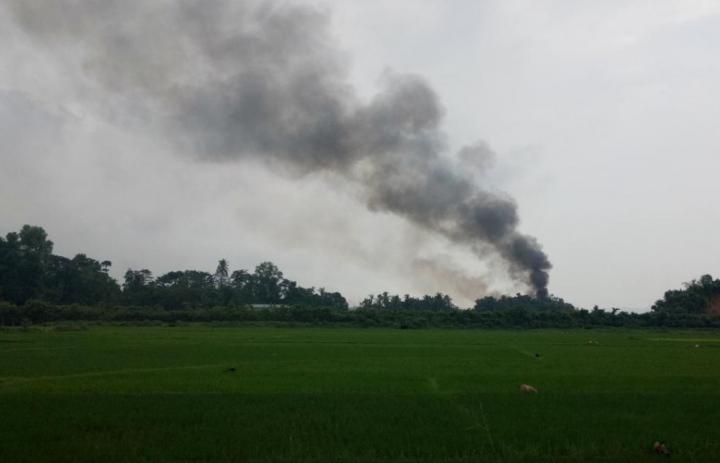 Взрыв на границе Мьянмы и Бангладеш. Фото: Reuters