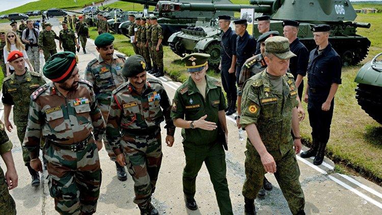 Совместные военные учения России и Индии