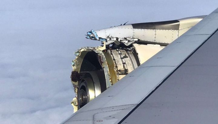 Airbus A380 потерял детали мотора над Атлантикой