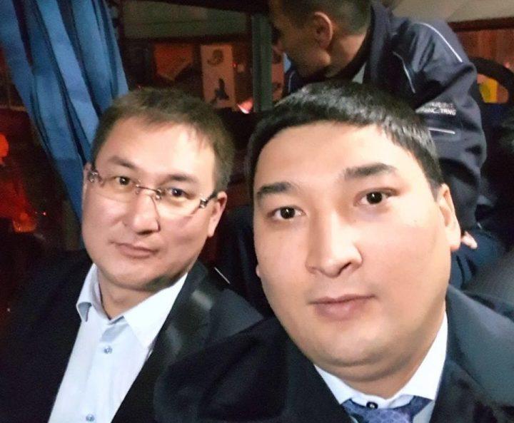 Руководитель аппарата акима Шымкента Рашид Аюпов и заместитель акима города Кайрат Нуртай