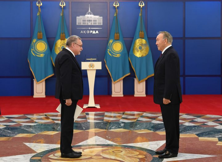 Посол и Назарбаев