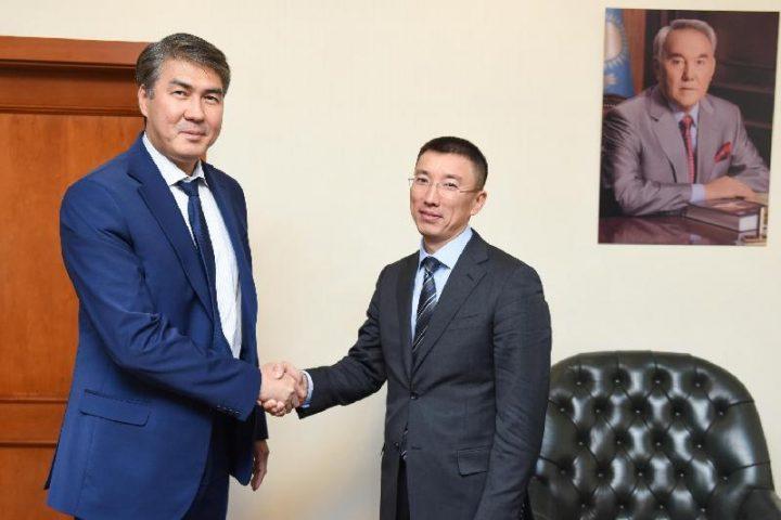 Асет Исекешев и Аскар Амрин