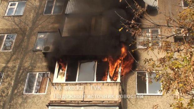 пожар в шымкенте погиб ребенок