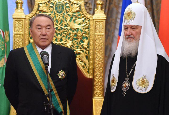 Нурсултан Назарбаев и патриарх Кирилл