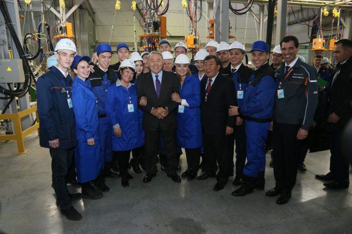 Назарбаев в Костанае