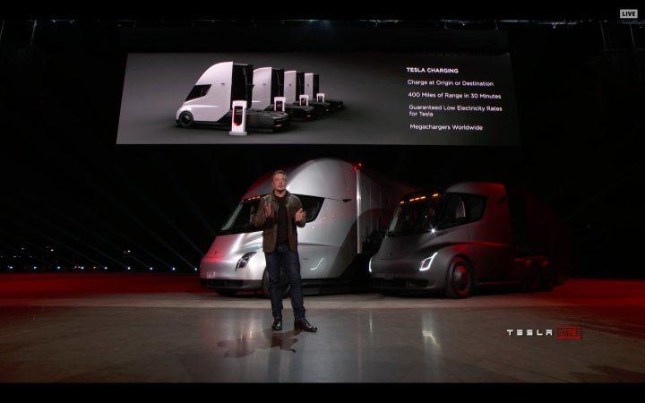 Илон Маск на презентации Tesla Semi. Источник: Twitter