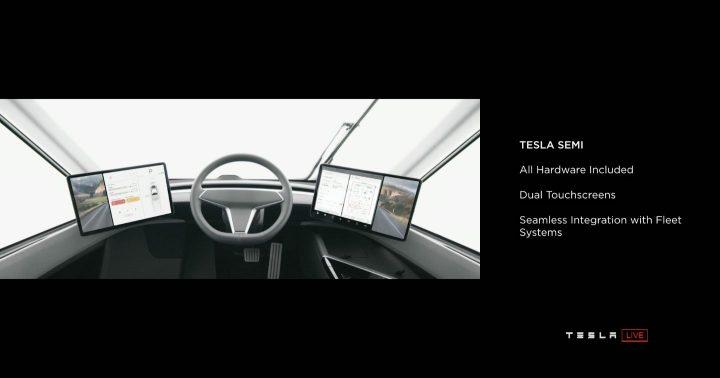 Кабина Tesla Semi. Источник: Twitter