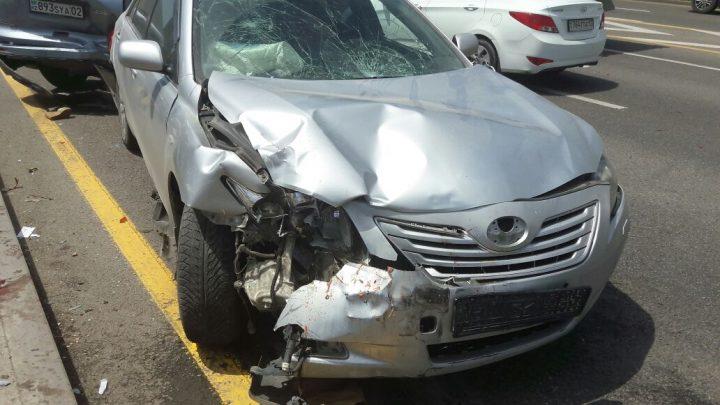 Toyota Camry Улана Абдуалиева на месте ДТП. Фото: Motor.kz