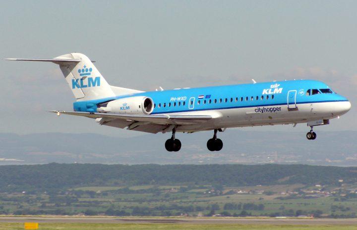 Самолет Fokker 70 авиакомпании KLM