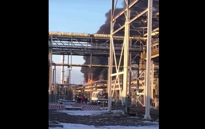 пожар на атырауском нпз