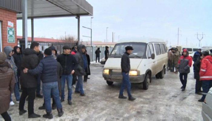 забастовка водителей атырау