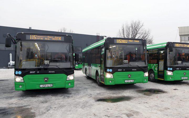 "Автобусы ""ЛиАЗ"". Фото: пресс-служба акимата Алматы"
