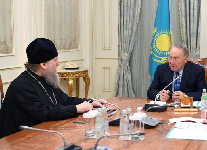 Назарбаев и митрополит Александр
