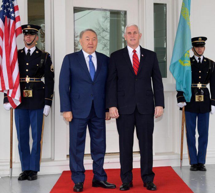 назарбаев и вице-президент сша