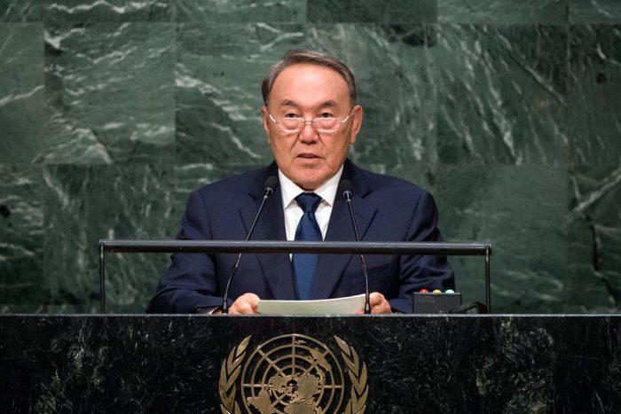 Назарбаев выступает с трибуны ООН, 2015 год