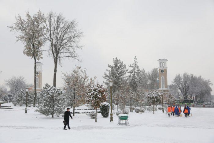снег в ташкенте
