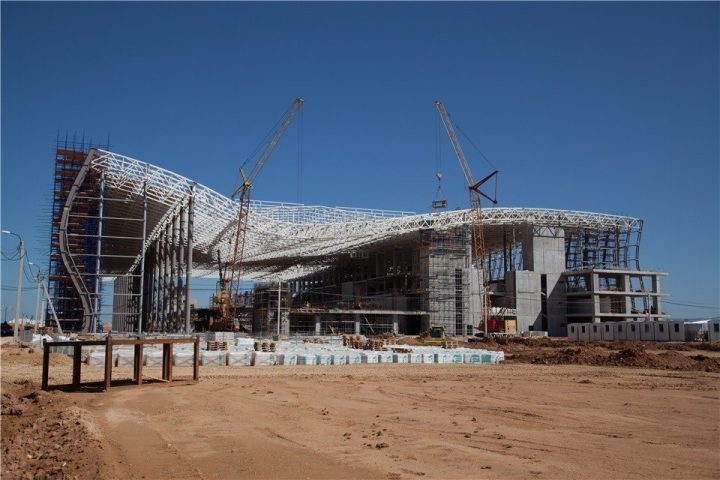 Строительство нового терминала аэропорта Симферополя. Фото из соцсетей
